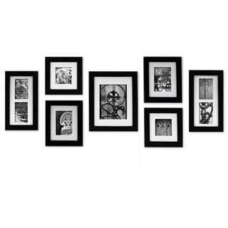 Gallery Perfect Create A Gallery Black Wood Frame 7 Piece Kit
