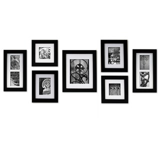 Gallery Perfect Create a Gallery Black Wood Frame 7-piece Kit