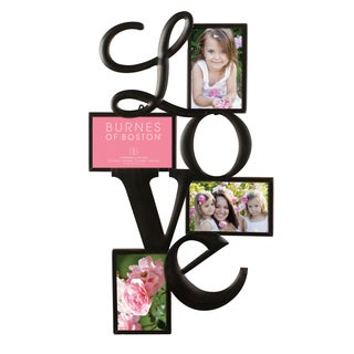 Burnes of Boston 'Love' Bronze Metal Four 4-inch x 6-inch Picture Collage Frame
