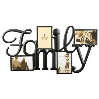 Burnes of Boston Family Bronze Metal 4-opening Collage Frame