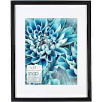 Snap Black Wood Matted Frame