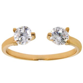 Eternally Haute Gold-Plated Brass 1.5-carat Cubic Zirconia Simulant Ring