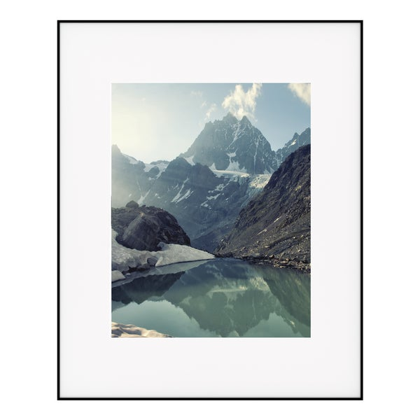Artcare Photography Black Aluminum Matted White Wall Frame