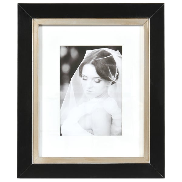 Shop Artcare Taylor Black and Gold Matted Wall Frame - Free Shipping ...