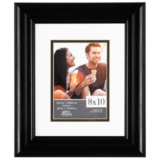 Gallery Solutions Black Satin Matted Frame