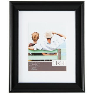 Gallery Solutions Black Wood Matted Photo Frame