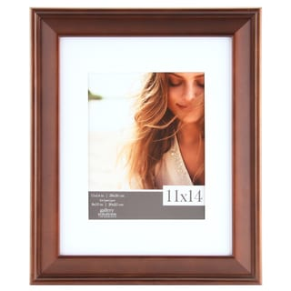 Gallery Solutions Walnut Wood White Slant Matted Frame