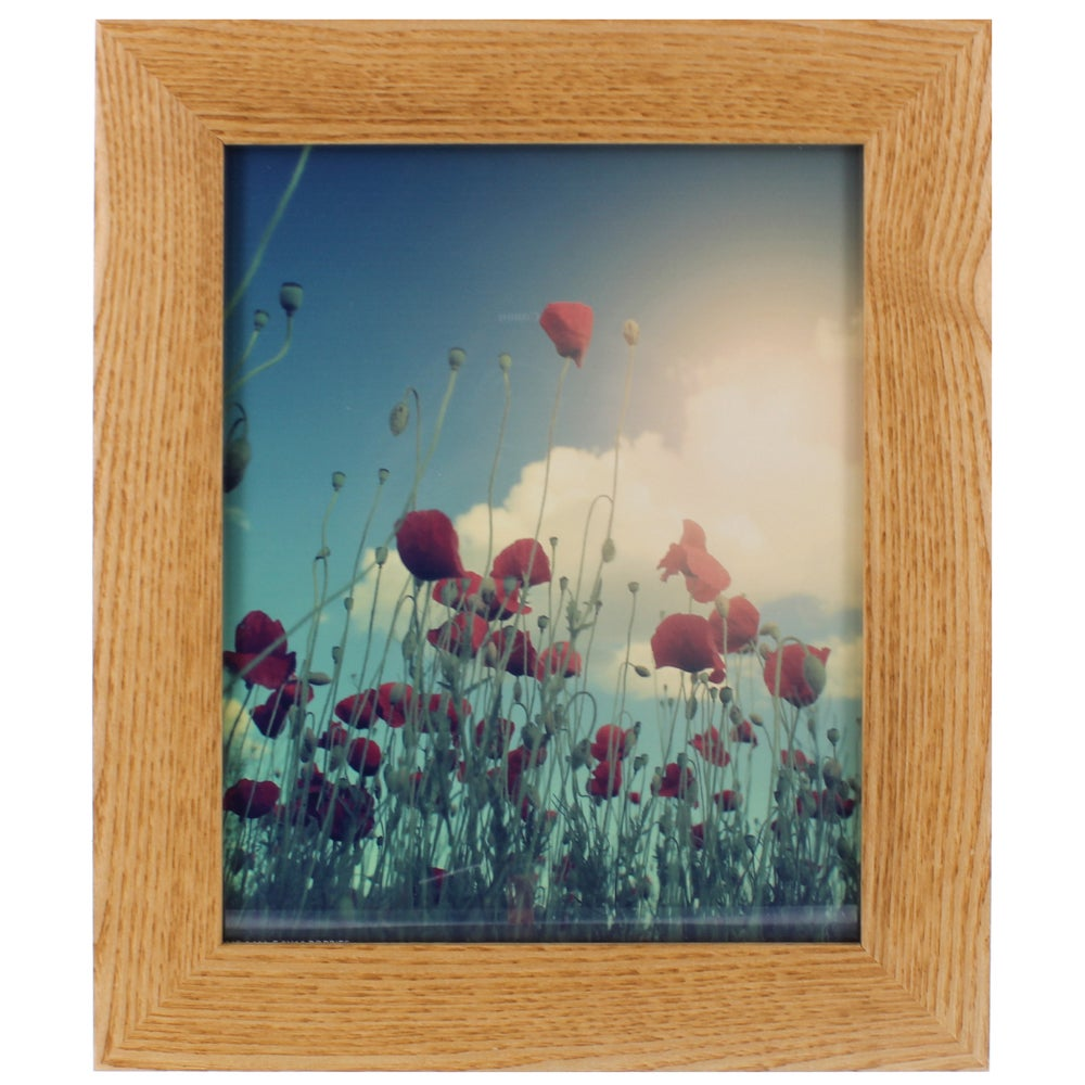 Gallery Solutions Natural Hardwood Frame (8x10), Brown