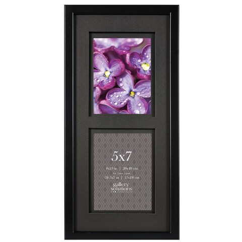 Gallery Solutions Black 8-inch by 19-inch Matted Frame