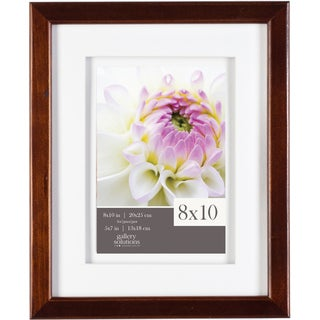 Gallery Solutions Espresso Matted Frame