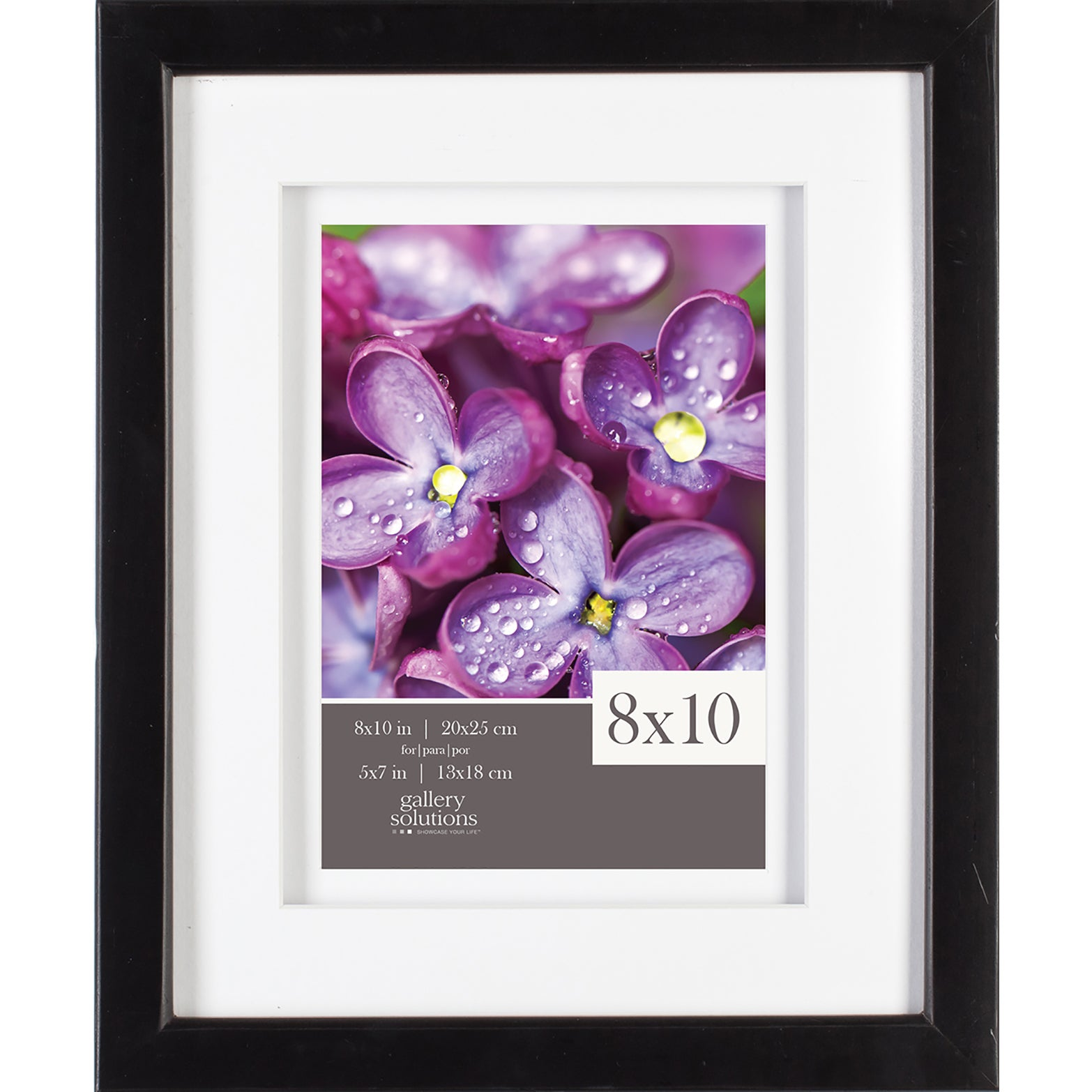 Gallery Solutions Black Wood Frame with Airfloat Mat (8x1...