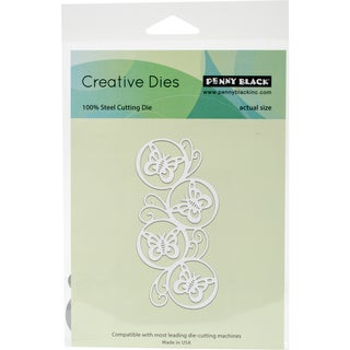 "Penny Black Creative Dies Butterfly Circles, 1.9""X3.75"""