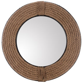 Rope and Metal 27-inch Round Mirror