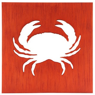 Red Metal 18-inch x 18-inch Crab Mirror Box
