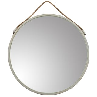 Metal 30-inch Round Mirror With Rope