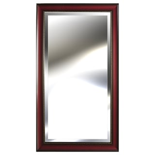 Pinnacle Woodtone Bead Accent 24-inch x 48-inch Mirror