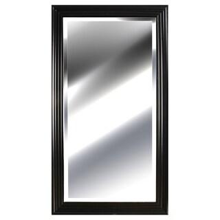 Pinnacl Black 24-inches x 48-inches Ridged Mirror