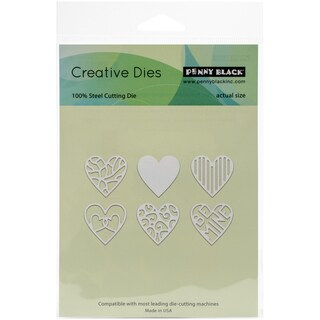 "Penny Black Creative Dies All My Hearts, 1""X1"" Each"