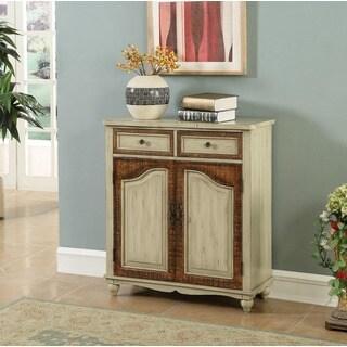 Somette Natural MDF/Poplar 2-door 2-drawer Cabinet