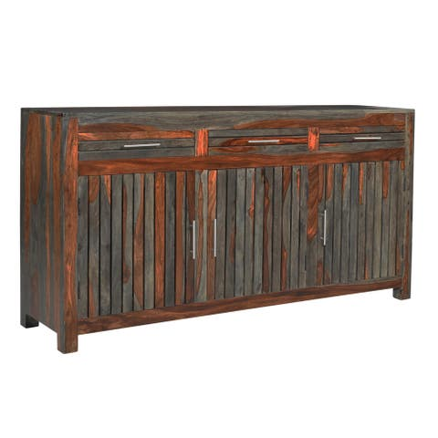Christopher Knight Home Grey Sheesham Wooden Credenza