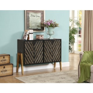 Christopher Knight Home Black and Gold 4-door Sideboard