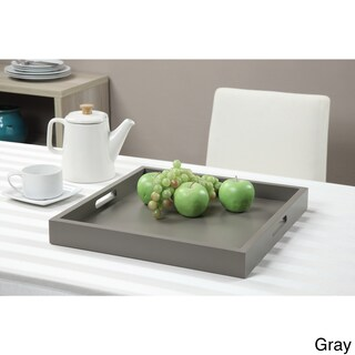 Convenience Concepts Wood Palm Beach Tray (Option: gray)