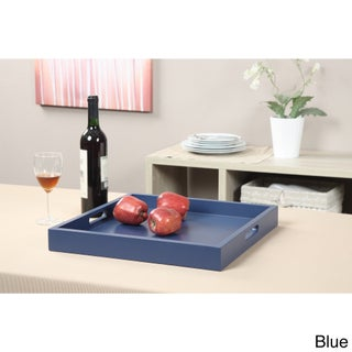 Convenience Concepts Wood Palm Beach Tray (Option: Blue)