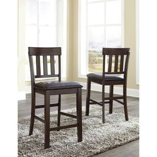 Signature Design by Ashley Haddigan Dark Dining Upholstered Chair (Set of 2)