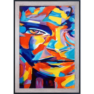 Helena Wierzbicki 'Acceptance of The Self' Hand Painted Framed Canvas Art