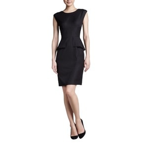 T Tahari Myra Black Size 6 Peplum Dress