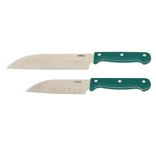 Ginsu Stainless Steel 2-piece Santoku Knife Set