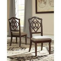 Signature Design by Ashley Leahlyn Brown Dining UPH Dining Chair (Set of 2)