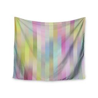 KESS InHouse Dawid Roc 'Sweet Pastel Lines 1' Green Pink 51x60-inch Tapestry
