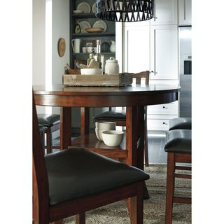 Signature Design by Ashley Renaburg Medium Brown Oval Counter Table