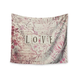 KESS InHouse Debbra Obertanec 'Simply Love' Pink Typography 51x60-inch Tapestry