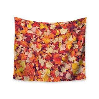 KESS InHouse Debbra Obertanec 'Scarlet Red' Crimson Yellow 51x60-inch Tapestry