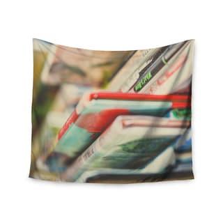 KESS InHouse Debbra Obertanec 'Read More' Red Multocolor 51x60-inch Tapestry