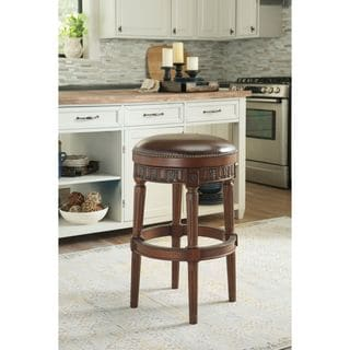 Signature Design by Ashley North Shore Dark Brown Tall Swivel Stool