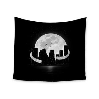 KESS InHouse Digital Carbine 'Goodnight' Black White 51x60-inch Tapestry