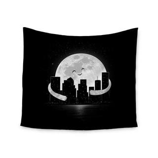 KESS InHouse Digital Carbine 'Goodnight' Black White 51x60-inch Tapestry