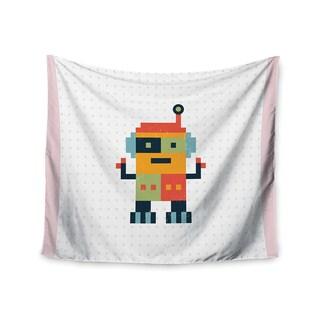 KESS InHouse Daisy Beatrice 'Happy Robot' Multicolor 51x60-inch Tapestry