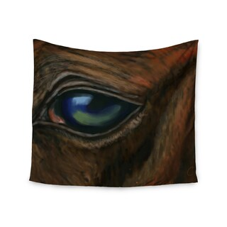 KESS InHouse Cyndi Steen 'Arabian Eye' Brown Animals 51x60-inch Tapestry