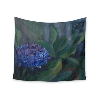 KESS InHouse Cyndi Steen 'Hydrangea' Floral Green 51x60-inch Tapestry