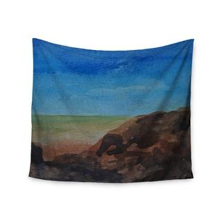KESS InHouse Cyndi Steen 'Beach Rocks' Blue Coastal 51x60-inch Tapestry