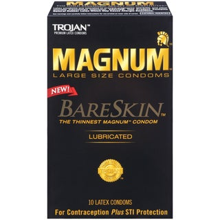 Trojan Magnum Bareskin Lubricated Condoms (Pack of 10)