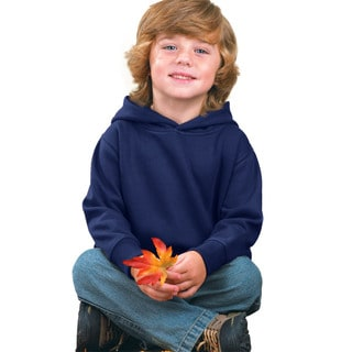 Boy's Navy Fleece Pullover Hooded Sweatshirt