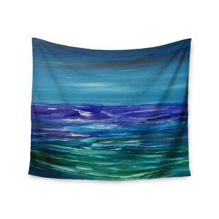 KESS InHouse Cyndi Steen 'Moonlit Waves' Blue Purple 51x60-inch Tapestry