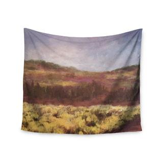 KESS InHouse Cyndi Steen 'Field Of Yellow' Brown Green 51x60-inch Tapestry