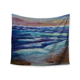 KESS InHouse Cyndi Steen 'Beach Dreams' Blue Brown 51x60-inch Tapestry