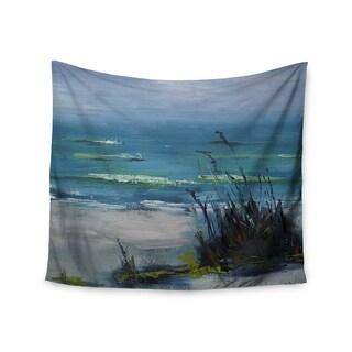 KESS InHouse Carol Schiff 'Sanibel' Blue Painting 51x60-inch Tapestry